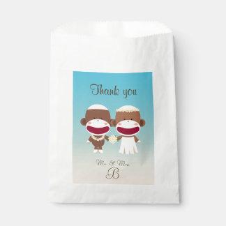 Sock Monkey Hawaiian Wedding Favor Bags