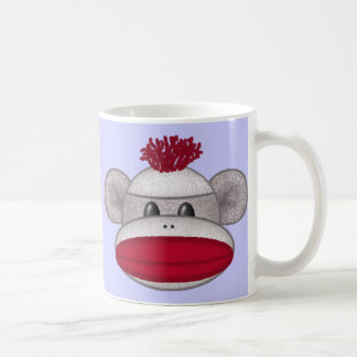 Sock Monkey Head Coffee Mug