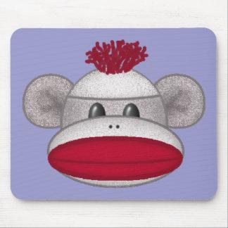Sock Monkey Head Mouse Pad