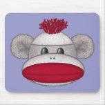 Sock Monkey Head Mouse Pads
