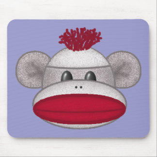 Sock Monkey Head Mouse Pads