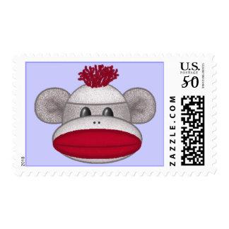 Sock Monkey Head Postage