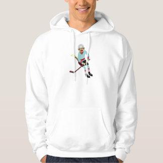 Sock Monkey Hockey Player Hoody