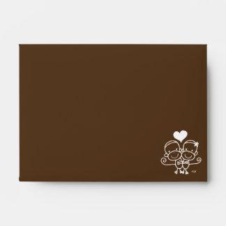 Sock Monkey Hugz Envelope