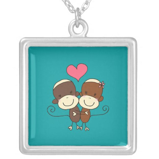 Sock Monkey Hugz Necklace