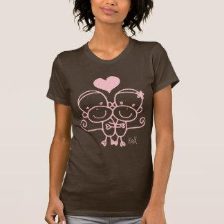 Sock Monkey Hugz T-shirt(pink) T-Shirt