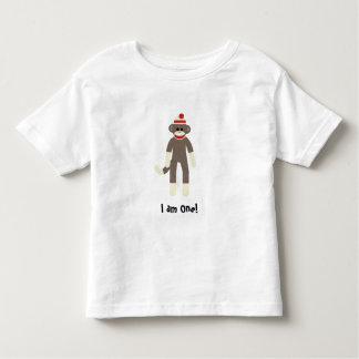 sock monkey I am One! Toddler T-shirt