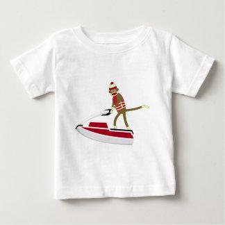 Sock Monkey Jetski Baby T-Shirt