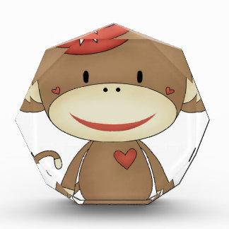 sock monkey july4 acrylic award