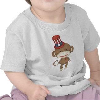 sock monkey july4 tee shirt