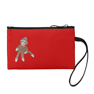 "''sock monkey"" key and coin bag"