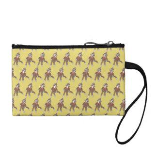 "''sock monkey"" key and coin bag"