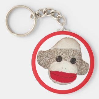 Sock monkey keychain