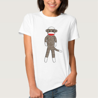 Sock Monkey Ladies Baby Doll Fitted Shirt