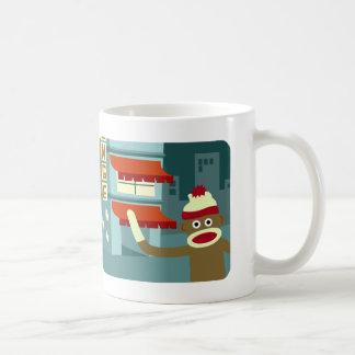 Sock Monkey Lounge Night Coffee Mug
