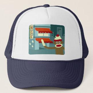 Sock Monkey Lounge Night Trucker Hat