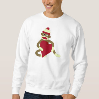 Sock Monkey Love Heart Sweatshirt