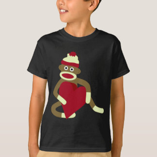 Sock Monkey Love Heart T-Shirt