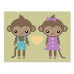 Sock Monkey Love Postcards