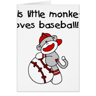 Sock Monkey Loves Baseball Card