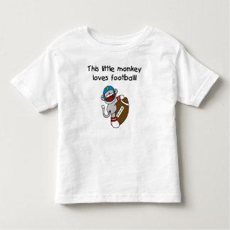 Sock Monkey Loves Football Toddler T-shirt