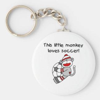Sock Monkey Loves Soccer Keychain