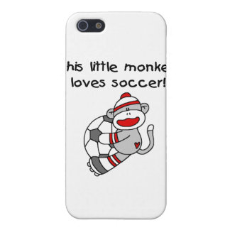 Sock Monkey Loves Soccer T shirts and Gifts iPhone 5 Case