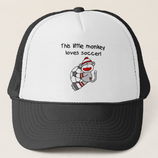 Sock Monkey Loves Soccer T shirts and Gifts Trucker Hat