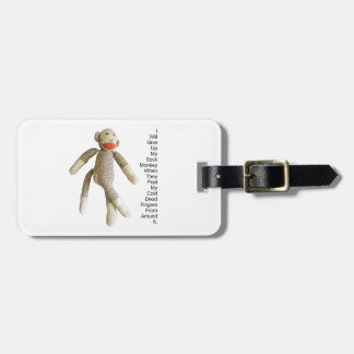 Sock Monkey Tag For Luggage