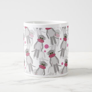 Sock Monkey Madness Large Coffee Mug