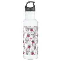 Sock Monkey Madness Stainless Steel Water Bottle