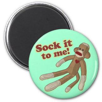 Sock Monkey Magnet