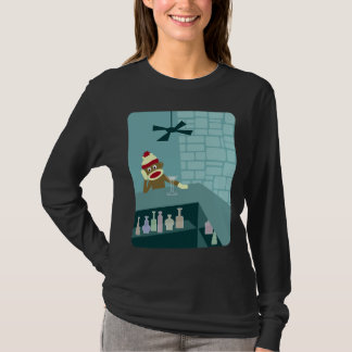 Sock Monkey Martini Bar T-Shirt