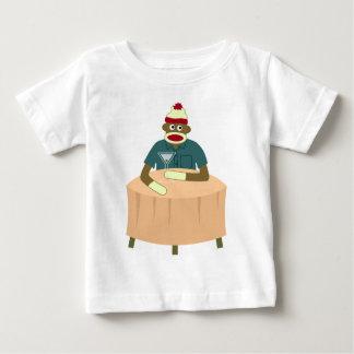 Sock Monkey Martini Nightclub Baby T-Shirt