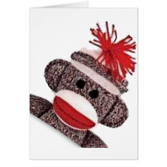 Sock Monkey merchandise products gifts Card
