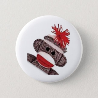 Sock Monkey merchandise products gifts Pinback Button
