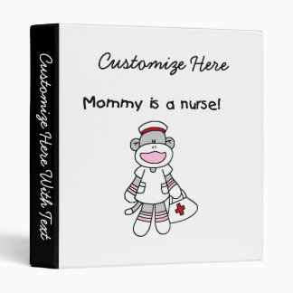 Sock Monkey Mommy Nurse T-shirts and Gifts Binder
