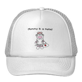 Sock Monkey Mommy Nurse T-shirts and Gifts Trucker Hat