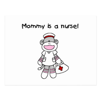 Sock Monkey Mommy Nurse T-shirts and Gifts Postcard