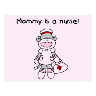 Sock Monkey Mommy Nurse T shirts and Gifts Postcard