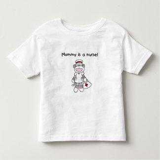 Sock Monkey Mommy Nurse Toddler T-shirt