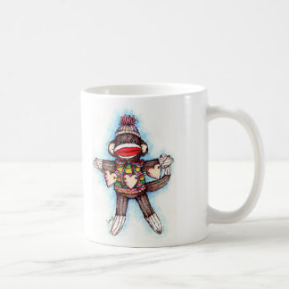Sock Monkey - Monkey Business Classic White Coffee Mug