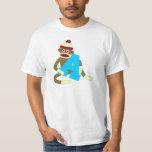 Sock Monkey Monogram Boy A T Shirt