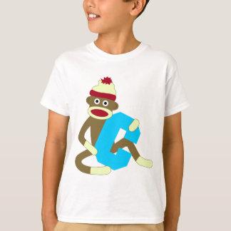 Sock Monkey Monogram Boy C T-Shirt