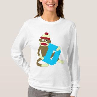 Sock Monkey Monogram Boy D T-Shirt