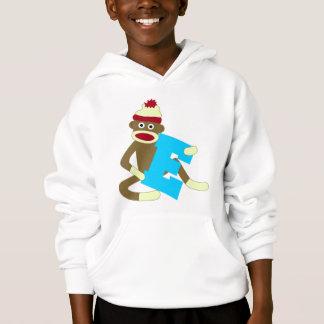 Sock Monkey Monogram Boy E Hoodie
