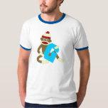 Sock Monkey Monogram Boy G Shirts