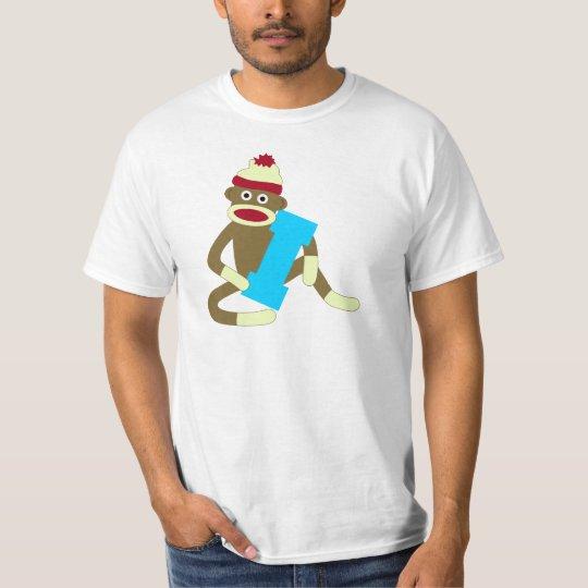 Sock Monkey Monogram Boy I T-Shirt