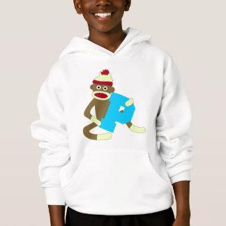 Sock Monkey Monogram Boy P Hoodie
