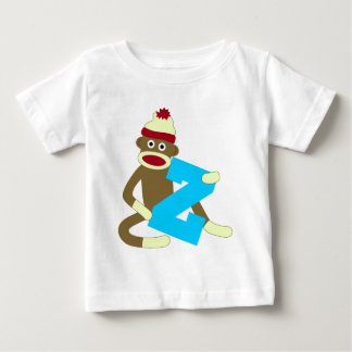 Sock Monkey Monogram Boy Z Baby T-Shirt